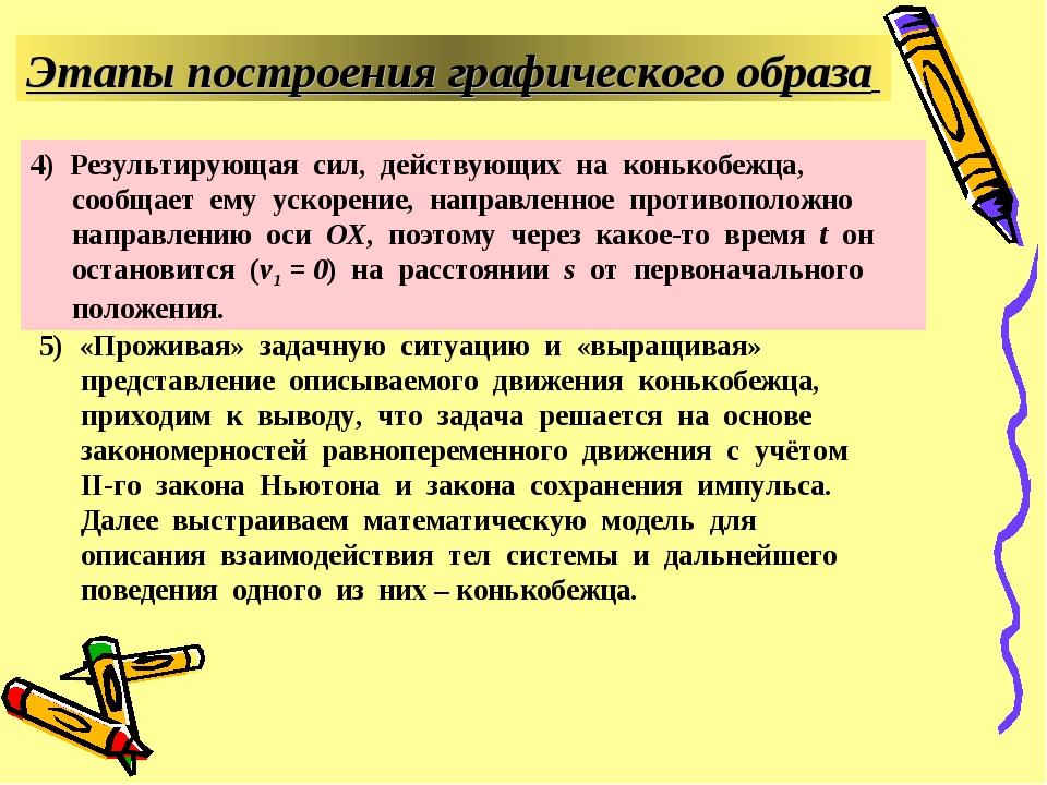 5) «Проживая» задачную ситуацию и «выращивая» представление описываемого движ...