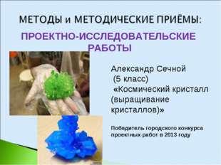 ПРОЕКТНО-ИССЛЕДОВАТЕЛЬСКИЕ РАБОТЫ Александр Сечной (5 класс) «Космический кри