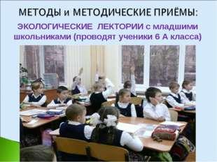 ЭКОЛОГИЧЕСКИЕ ЛЕКТОРИИ с младшими школьниками (проводят ученики 6 А класса)