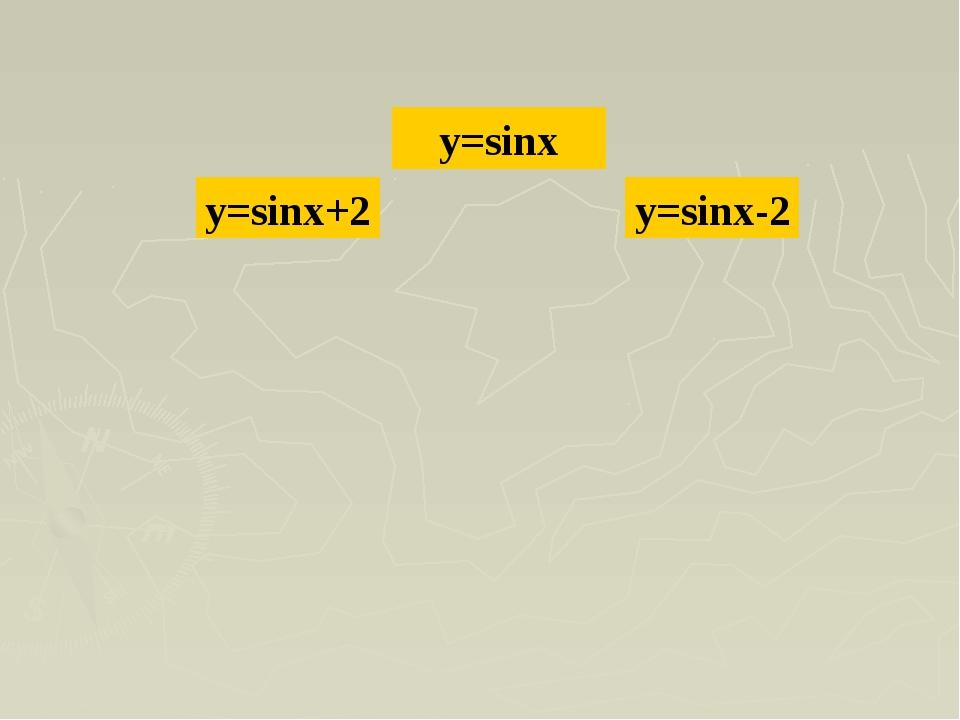 y=sinx y=sinx+2 y=sinx-2