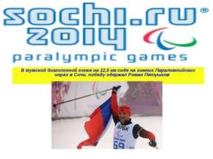 В мужской биатлонной гонке на 12,5 км сидя на зимних Паралимпийских играх в С