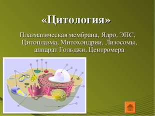 «Цитология» Плазматическая мембрана, Ядро, ЭПС, Цитоплазма, Митохондрии, Лизо