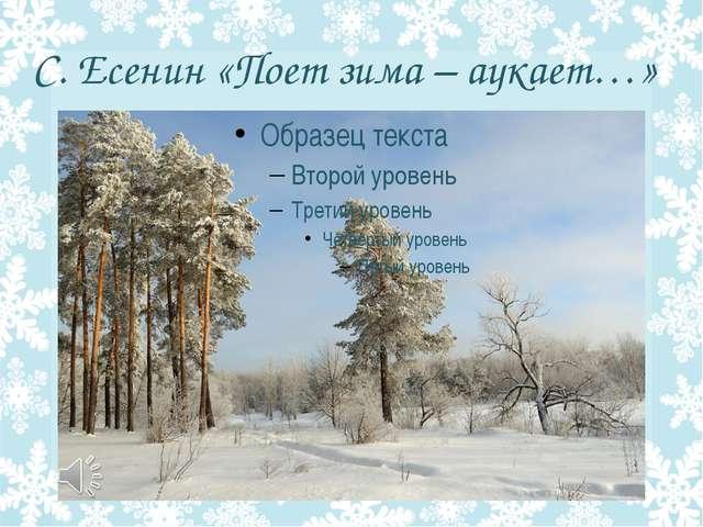 С. Есенин «Поет зима – аукает…»