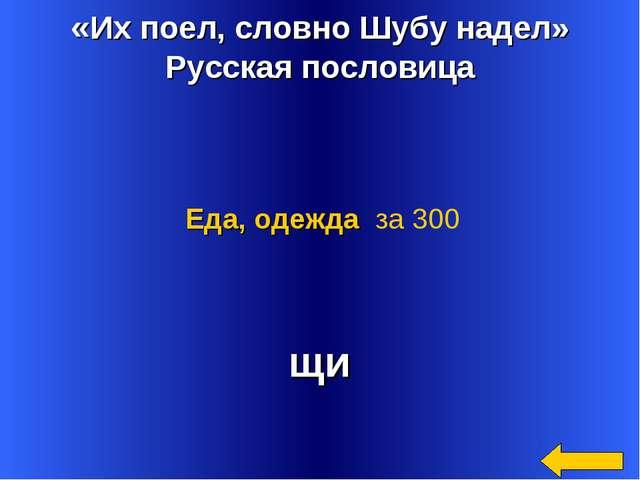«Их поел, словно Шубу надел» Русская пословица щи Еда, одежда за 300