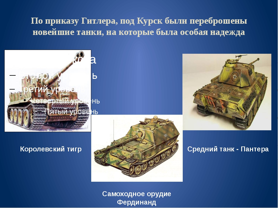По приказу Гитлера, под Курск были переброшены новейшие танки, на которые был...