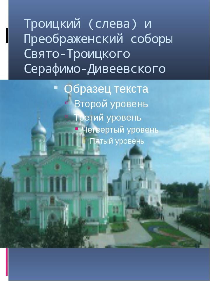 Троицкий (слева) и Преображенский соборы Свято-Троицкого Серафимо-Дивеевского...