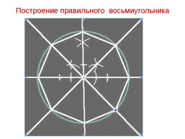 Построение правильного восьмиугольника