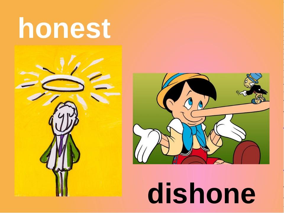 honest dishonest