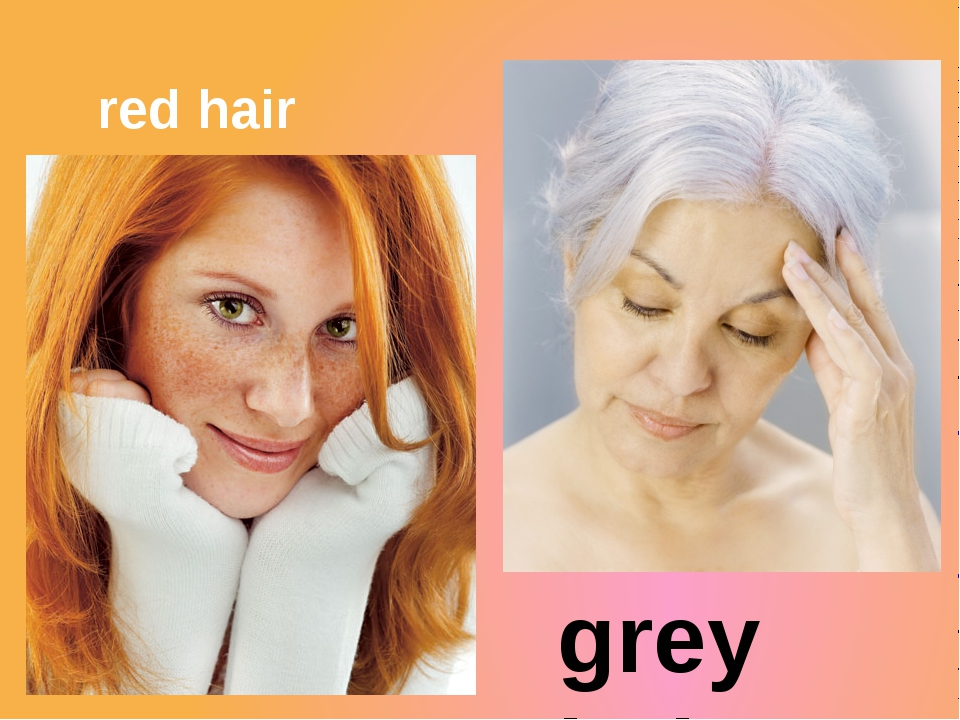 red hair grey hair