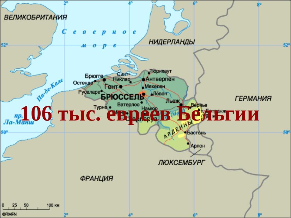 106 тыс. евреев Бельгии