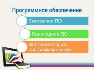 Программное обеспечение Все программное обеспечение принято разделять на три