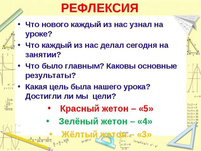 РЕФЛЕКСИЯ Что нового каждый из нас узнал на уроке? Что каждый из нас делал се...