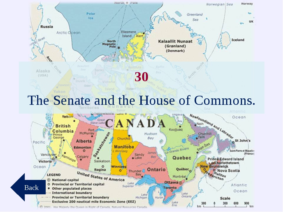 30 The Senate and the House of Commons. Back