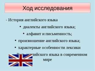 Ход исследования - История английского языка диалекты английского языка; алфа