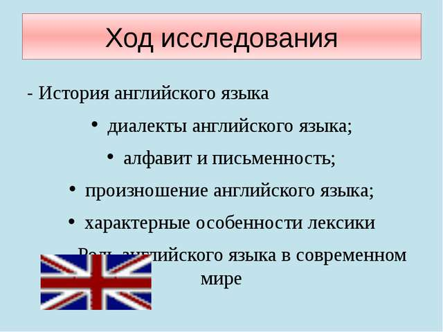 Ход исследования - История английского языка диалекты английского языка; алфа...