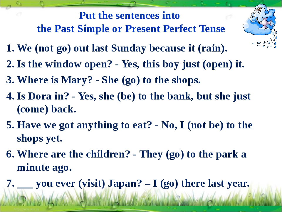 Put the sentences into the Past Simple or Present Perfect Tense We (not go) o...