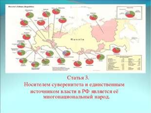 Статья 3. Носителем суверенитета и единственным источником власти в РФ я