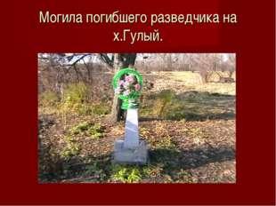 Могила погибшего разведчика на х.Гулый.
