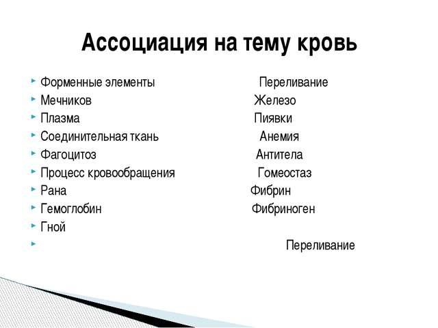 Форменные элементы Переливание Мечников Железо Плазма Пиявки Соединительная т...