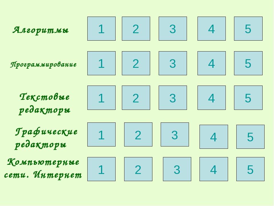 Алгоритмы Программирование Текстовые редакторы Графические редакторы Компьюте...