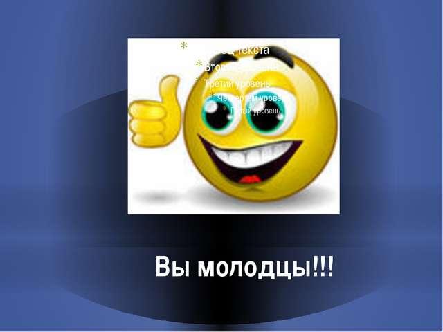 Вы молодцы!!!