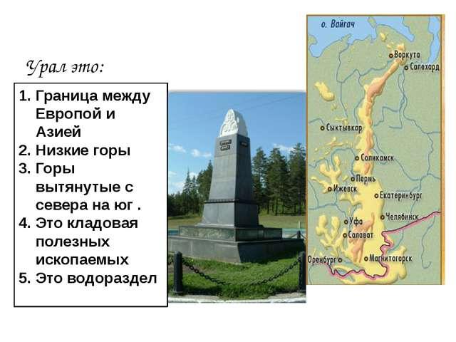 Особенности: Что такое Урал Географическое положение Рельеф и полезные ископ...