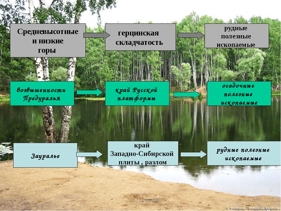 Средневысотные и низкие горы герцинская складчатость рудные полезные ископаем...