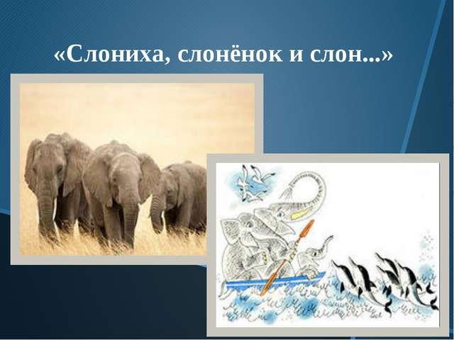 «Слониха, слонёнок и слон...»