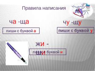 Правила написания жи - ши пиши с буквой у