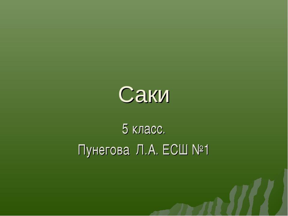 Саки 5 класс. Пунегова Л.А. ЕСШ №1