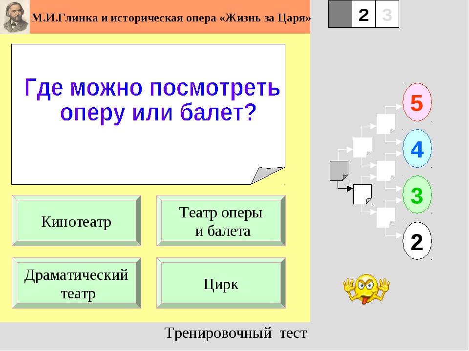 1 Драматический театр Цирк 5 2 3 4 2 3 Театр оперы и балета Кинотеатр Трениро...
