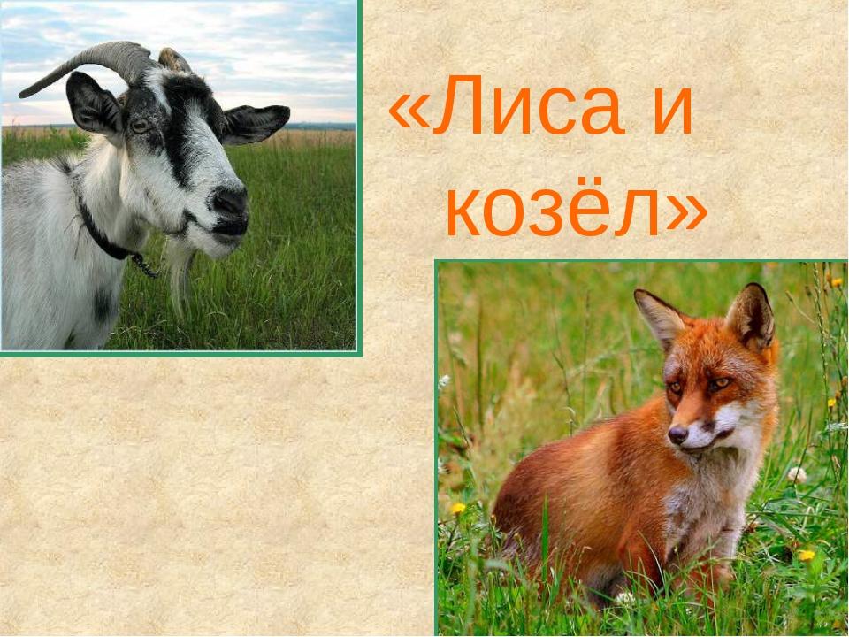 «Лиса и козёл»