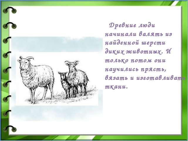Древние люди начинали валять из найденной шерсти диких животных. И только...