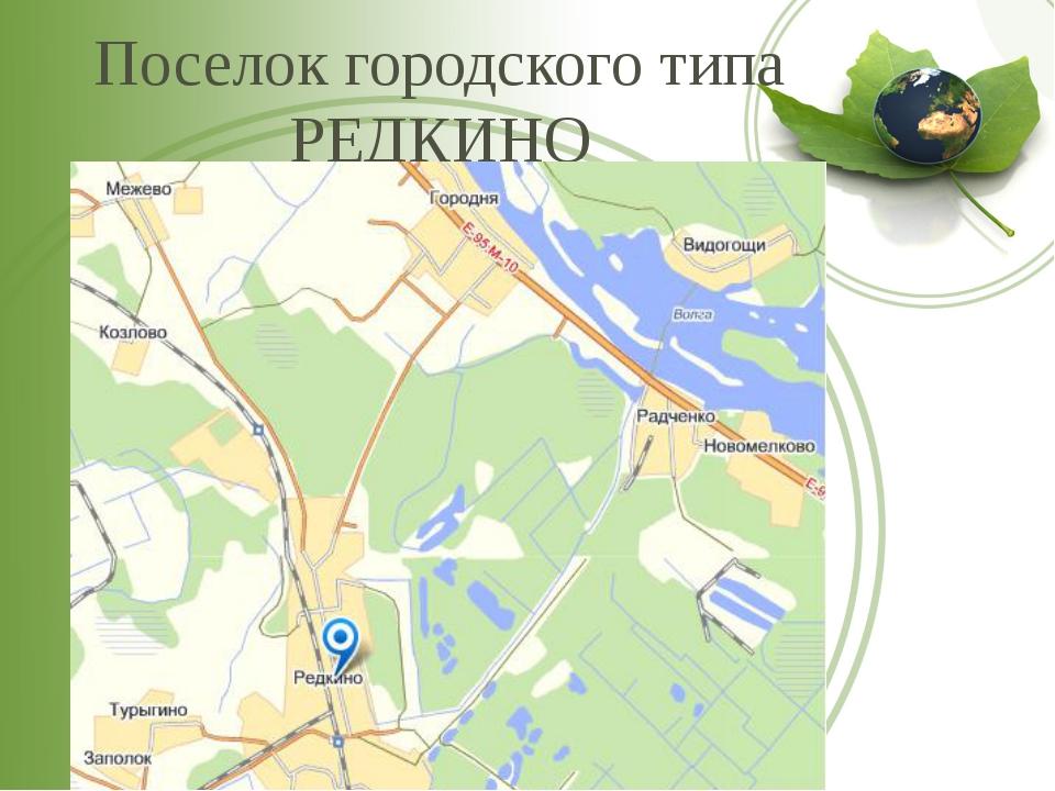 Поселок городского типа РЕДКИНО