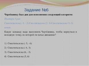Задание №6 Чертёжнику был дан для исполнения следующий алгоритм: Повтори 3 ра