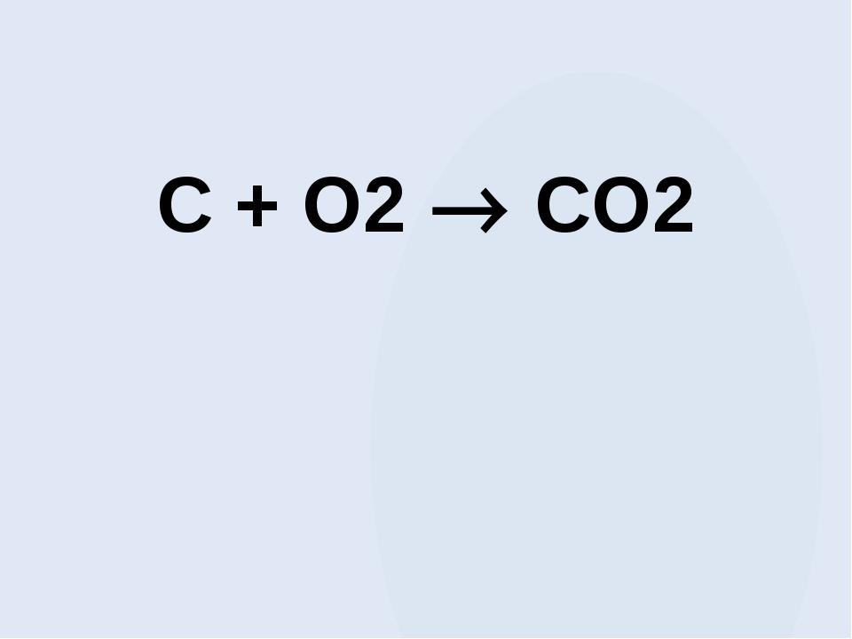 C + O2  CO2