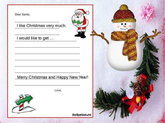 I like Christmas very much. I would like to get … Merry Christmas and Happy N...