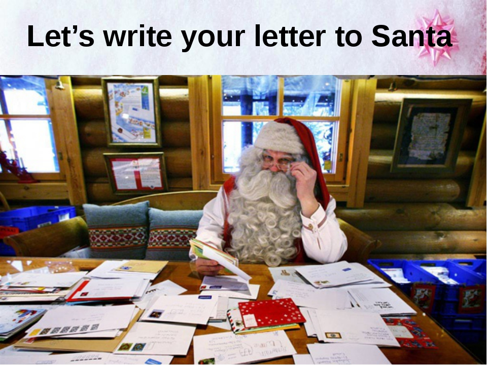 Let's write your letter to Santa