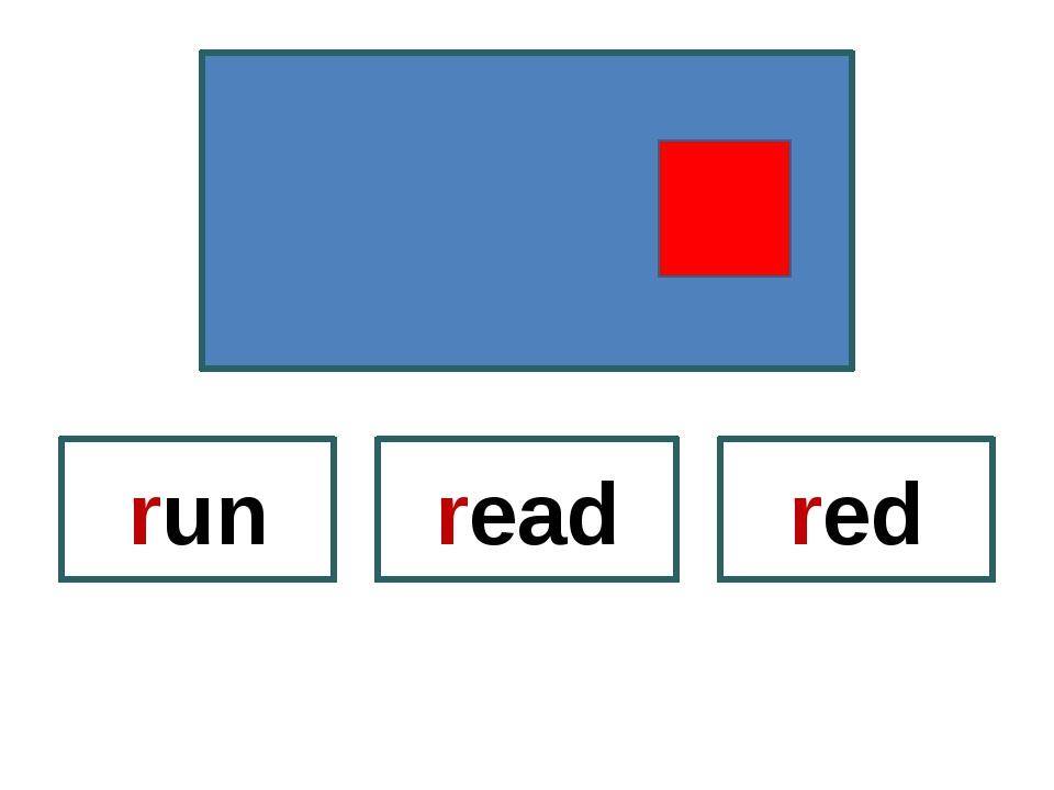 read run red