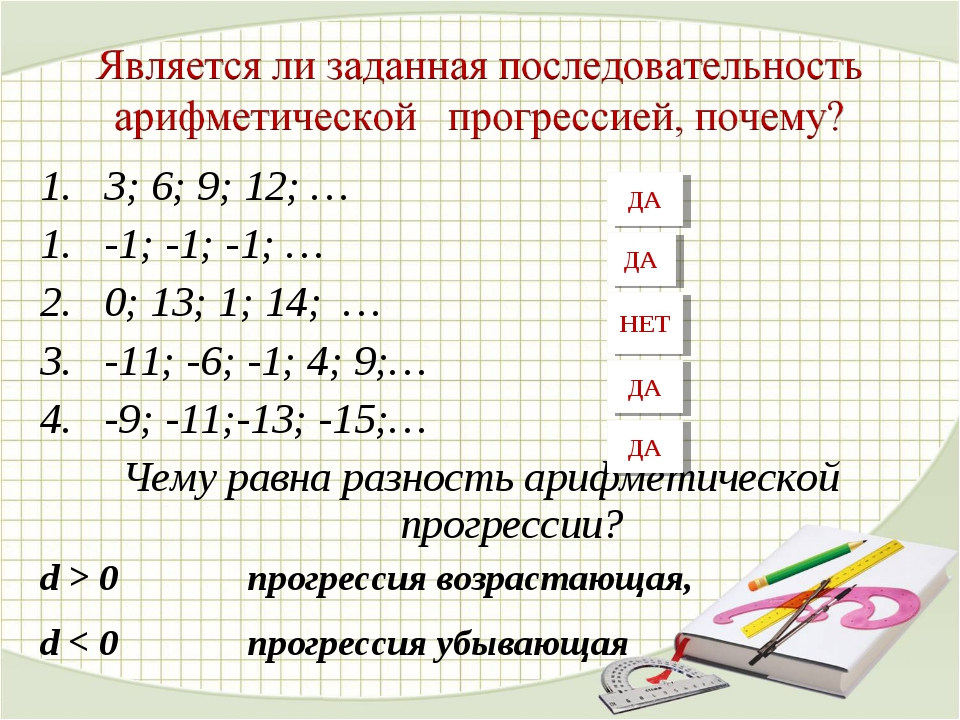1. 3; 6; 9; 12; … -1; -1; -1; … 0; 13; 1; 14; … -11; -6; -1; 4; 9;… -9; -11;-...
