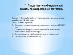 Задание 1. Исследуйте таблицу «Среднедушевые денежные доходы по субъектам РФ