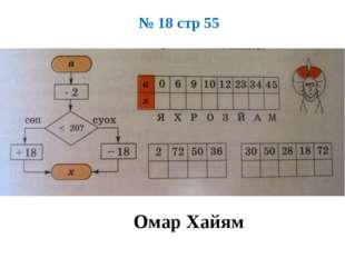 № 18 стр 55 Омар Хайям