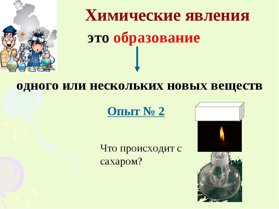 Химические явления это образование одного или нескольких новых веществ Опыт №...