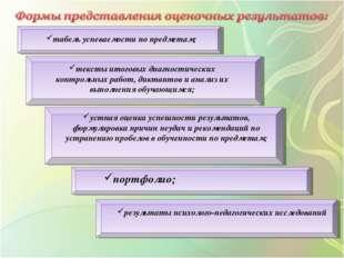 табель успеваемости по предметам; тексты итоговых диагностических контрольных