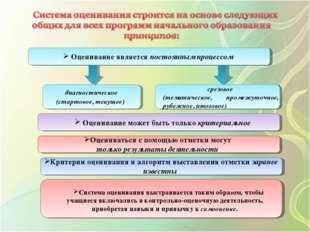 Оценивание является постоянным процессом диагностическое (стартовое, текущее