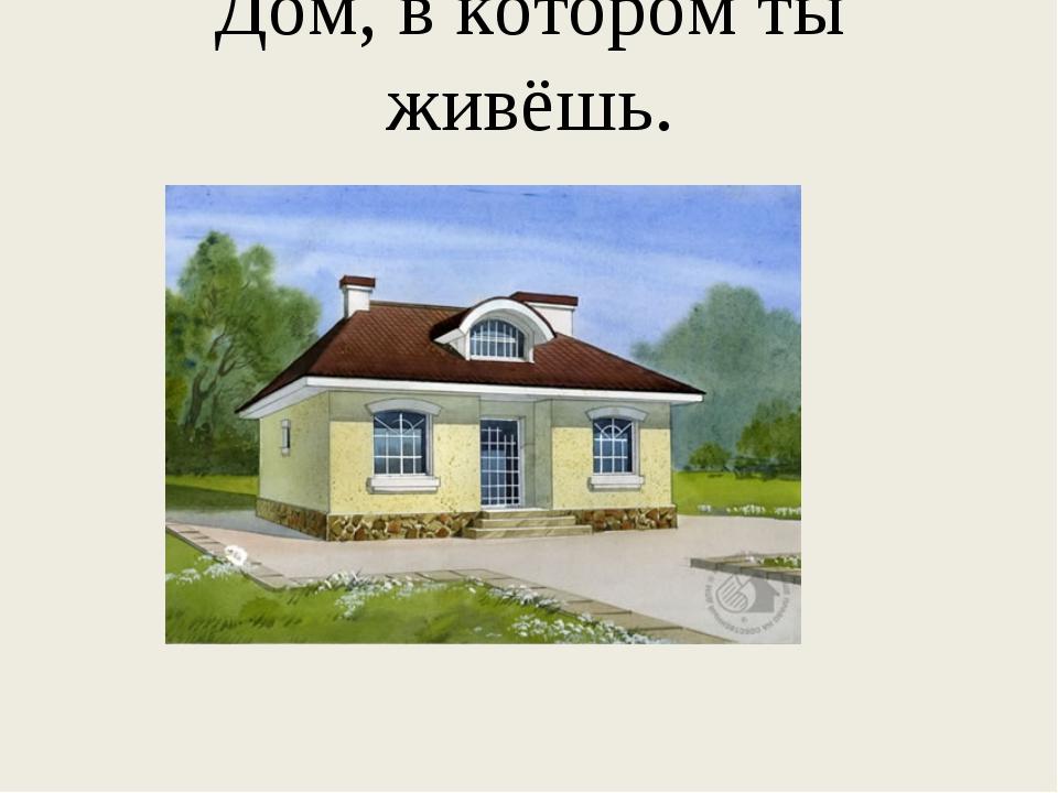 Дом, в котором ты живёшь.
