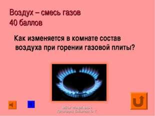 Воздух – смесь газов 40 баллов Как изменяется в комнате состав воздуха при го