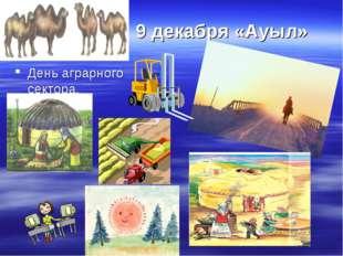 9 декабря «Ауыл» День аграрного сектора.