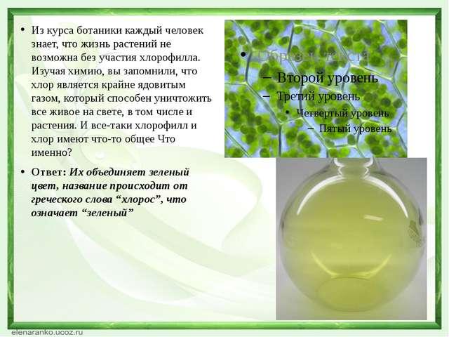 Из курса ботаники каждый человек знает, что жизнь растений не возможна без у...