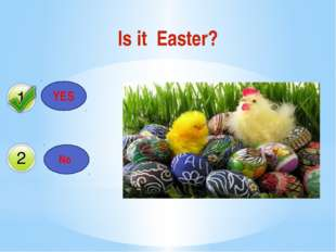 Is it Easter? YES No Да Нет